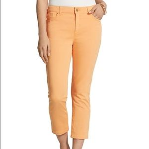 Chico's So Lifting Peach Slim Leg Crop Pants